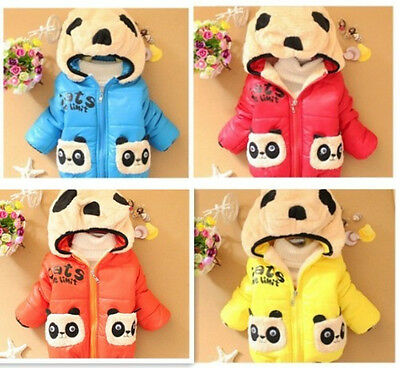 Kids Baby Toddler Boys Girls Animal Panda Winter Hoodies Coat Jacket Top Outwear