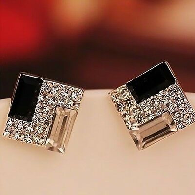 Hot Selling New Fashion Women Lady Elegant Crystal Rhinestone Ear Stud Earrings