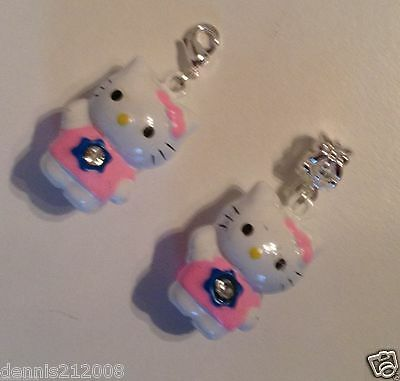 1 x Bead/charm dangle European or clip-on 3D bell SPACER animalS designs