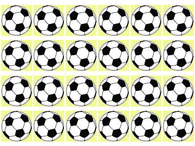 Soccer Ball 2 Cupcake Edible Icing Party Cake Topper Decoration Image Custom