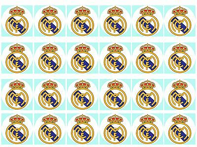 Real Madrid Cupcake Edible Icing Party Cake Topper Decoration Image Custom
