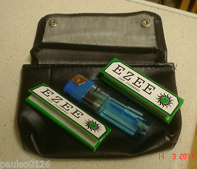 TOBACCO POUCH WITH FREE LIGHTER AND GREEN FAG PAPERS