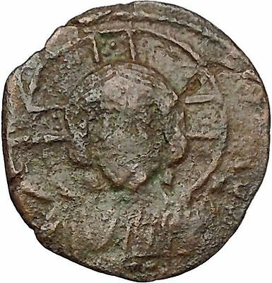 JESUS CHRIST Class A2 Anonymous Ancient 1028AD Byzantine Follis Coin  i41140