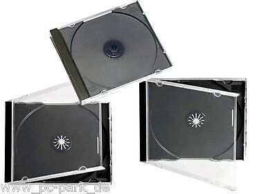 JEWELCASE 10mm ] 100 STÜCK PROFESSIONAL CD HÜLLE SINGLE DVD BLURAY HÜLLEN BOX