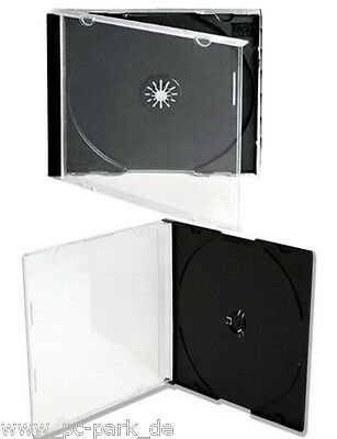 WÄHLBAR: JEWELCASE 10mm/CD SLIM 5mm HÜLLEN DVD LEER HÜLLE DISC BLURAY BOX CASE