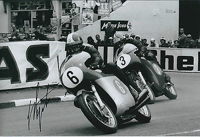 Giacomo AGOSTINI AGO Autograph MV Agusta Signed Photo COA Isle of Man TT WINNER