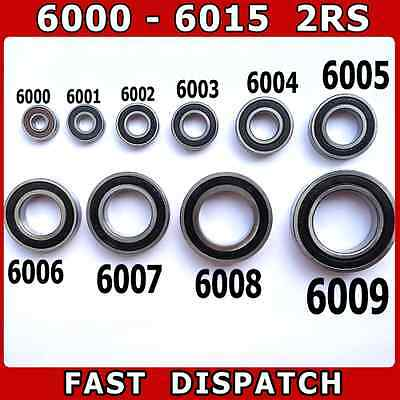 Bearings 6000 - 6015 2Rs - Rubber Sealed