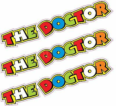 """3 x 5"""" The Doctor Valentino Rossi Stickers Decals Quality Printed Vinyl Label"""