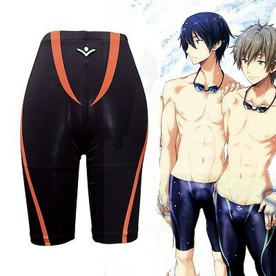 Casual Anime Free! Iwatobi Swim Club Nagisa Hazuki Cosplay Pant Swimming Trunks