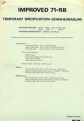 Improved 71-RB temporary specification-crane & Dragline 55 ton