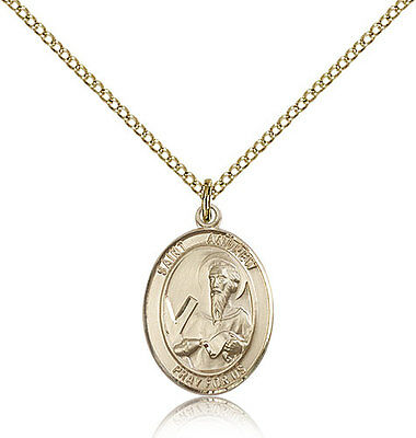 """Saint Andrew The Apostle Medal For Women - Gold Filled Necklace On 18"""" Chain ..."""