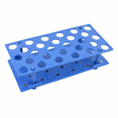 Blue Plastic 28 Holes Detachable 16mm Centrifuge Tube Rack Container