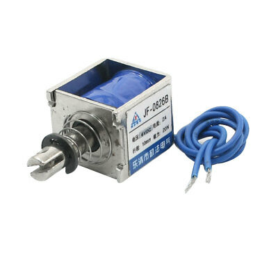 DC6V 20N Force 10mm Stroke Pull Push Two Wires Solenoid Electromagnet