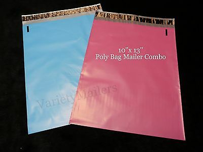 "20 Poly Bag Shipping Envelope Mailers Boutique Color Combo 10""x 13"" Pink & Blue"