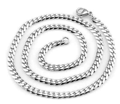 Various MEN'S 316L Stainless Steel Curb Chain Necklace 3.5MM 5.0MM 7MM 18-36''