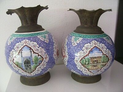 Old vase. orient with paintings