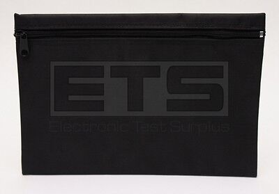 "JDSU TM110 Talk & Trace Black Zipper Nylon tool Pouch 11""L x 8""H TM-110 TM 110"