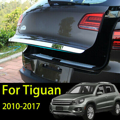 Fit For VW Tiguan 2010- 2016 Rear Trunk Back Door Cover Garnish Tail Gate Trim