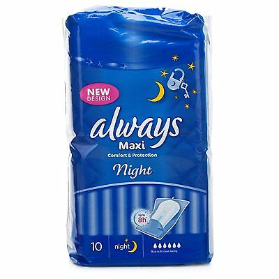 Always Maxi Comfort & Protection 10 Sanitary Pads Night