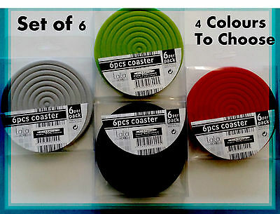 Set of 6 Brand New Drink Coasters / Table Placemats / Surface Protectors Cup Mug