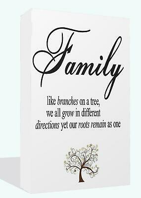 Family Quote Inspiration Motivational Picture Canvas Art Picture Print Wall Art
