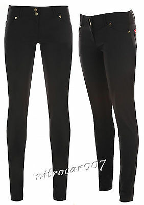 Girls Black Stretch School Trousers Sexy Miss Sexies Super Skinny Size 6-14