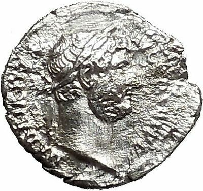Hadrian 134AD Silver Authentic Rare Ancient Roman Coin Nilus reclining i41541