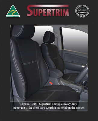 Toyota Hilux Waterproof Neoprene Front And Rear Premium Car Seat Covers