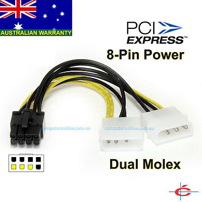 4 pin Molex to 8 pin PCI E Express Video Card  Graphic Card Power Adapter Cable