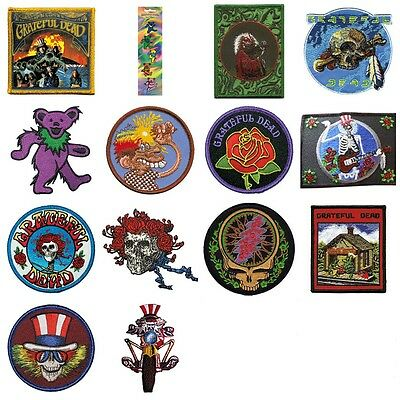 Grateful Dead Sew On Patch/Patches NEW OFFICIAL. Choice of 14 designs