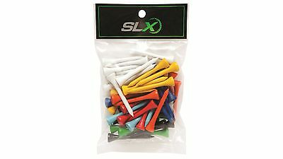 SLX 54mm Timber Wood Tees - Assorted Colours, Pack of 50