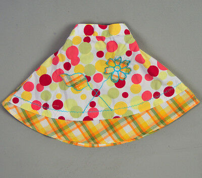 Baby girl 18M -2T floral hippie embroidered skirt Plaid multi color