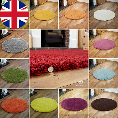 Small To Large Rugs 5Cm High Pile Soft Very Thick Circle Round Shaggy Rug