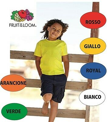 5 T-Shirt Bimbo Bambino Fruit Of The Loom -  Cinque Magliette manica corta t