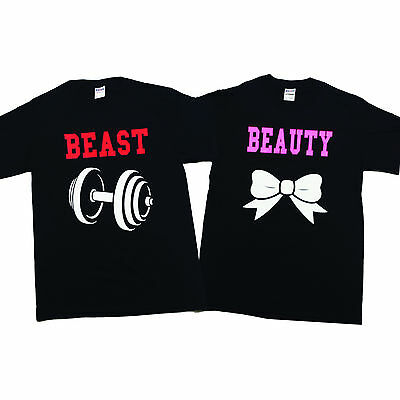 Beauty and the Beast Couple T-Shirts Cute Matching Tees