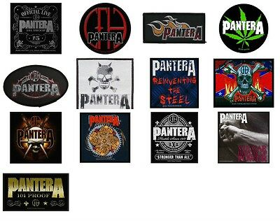 Pantera Sew On Patch/Patches NEW OFFICIAL. Choice of 13 designs