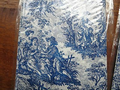 French Toile Tissue Paper Set Black Navy Green Pink NEW 3 sheet sets