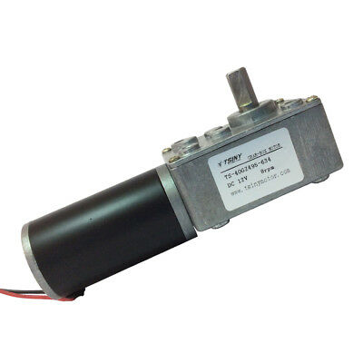 12V 8rpm Worm Electric Gear Motor Right Angle Gear Motors Low Speed