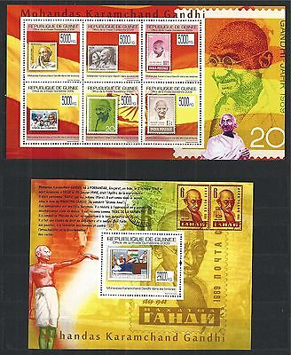 Guinea Guine 2009 Block Mini Sheet Set Gandhi India **