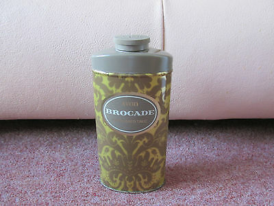 Vintage Avon Brocade Talcum Body Powder Talc Large 100G In Tin