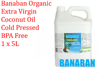 Banaban Organic Extra Virgin Coconut Oil Cold Pressed BPA Free 5L