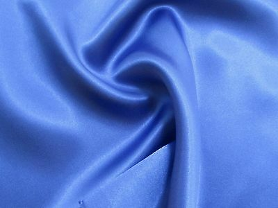 Beautiful ROYAL BLUE CHARMEUSE SATIN Mid SHEEN Light Feather Weight Fabric
