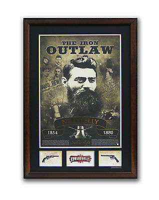 NED KELLY MEMORABILIA POSTER  FRAMED PRINT  'The Iron Outlaw'  LIMITED EDITION