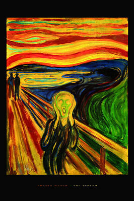 "The Scream by Edward Munch art poster  MAXI SIZE 24""X36"""