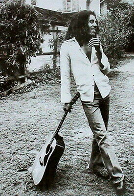 """Bob Marley with guitar poster  MAXI SIZE 24""""X36"""""""