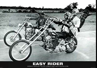 "Easy Rider Classic movie  poster Jack Nicholson Peter Fonda   MAXI SIZE 24""X36"""