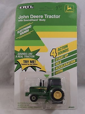 New in Box Ertl John Deere Tractor with Sound / Gard Body Diecast Tractor