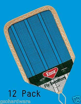 "12pk NEW Enoz Wire Mesh Fly Swatter 4.25"" Blade R38"