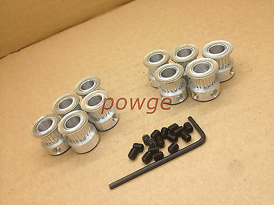 10pcs MXL Timing pulley 20teeth Bore 8mm for MXL pulley DIY Ultimaker 3D Printer