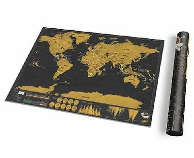 Deluxe Travel Scratch Off Map Personalized World Map Poster Luckies Personal Log